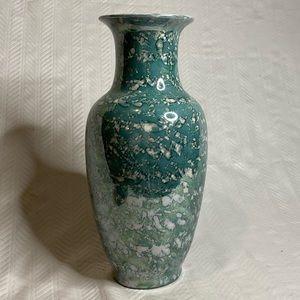 Vintage Chinese ceramic vase hand painted in Macau